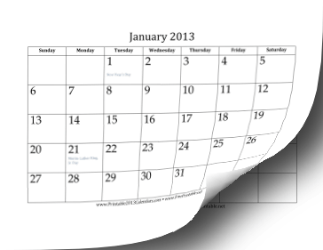 2013 Calendar (12 pages) Calendar