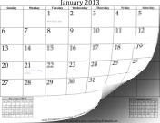 Calendar with Previous and Next Month